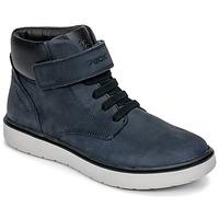 Schoenen Jongens Hoge sneakers Geox J RIDDOCK BOY WPF Marine