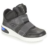 Schoenen Jongens Hoge sneakers Geox J XLED BOY Zwart
