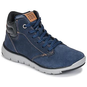 Schoenen Jongens Hoge sneakers Geox J XUNDAY BOY Marine / Zwart