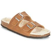 Schoenen Dames Leren slippers Casual Attitude JODRI  camel