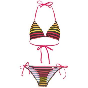 Textiel Dames Bikini's Little Marcel BASTINE Zwart / Multikleuren