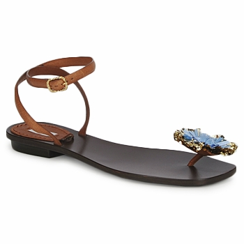 Schoenen Dames Sandalen / Open schoenen Marc Jacobs MJ16131 Brown / Blauw