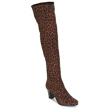 Schoenen Dames Hoge laarzen André PRISCA 3 Leopard
