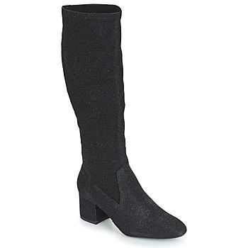 Schoenen Dames Hoge laarzen André FARFELUE Zwart / Paillettes
