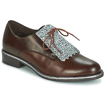 Schoenen Dames Derby André FATOU Brown