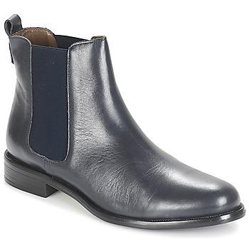 Schoenen Dames Laarzen André CARAMEL Blauw