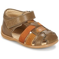 Schoenen Jongens Sandalen / Open schoenen André LES PRALINES Brown