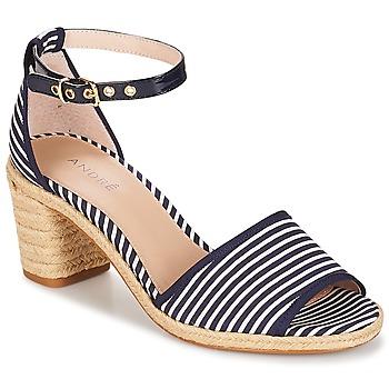 Schoenen Dames Sandalen / Open schoenen André JAKARTA Rayé / Blauw