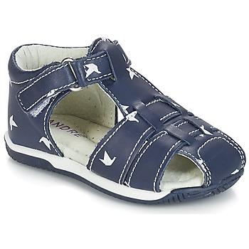 Schoenen Jongens Sandalen / Open schoenen André ORIGAMI Blauw