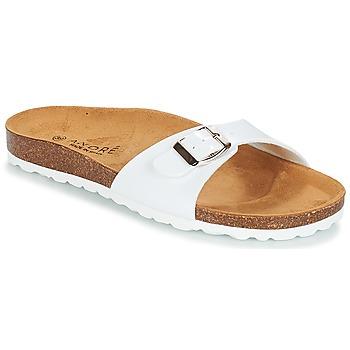 Schoenen Dames Leren slippers André ULYSSE Wit