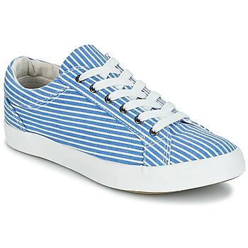 Schoenen Dames Lage sneakers André SESAME Rayé / Blauw
