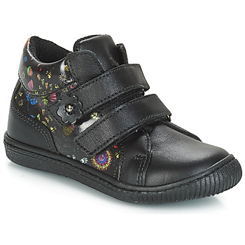 Schoenen Meisjes Lage sneakers Citrouille et Compagnie JUPETTE Zwart / Bloemen