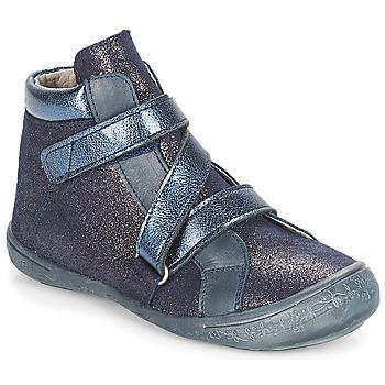 Schoenen Meisjes Hoge sneakers Citrouille et Compagnie HISSOU Blauw