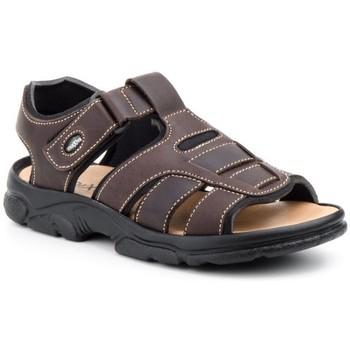 Schoenen Heren Sandalen / Open schoenen Morxiva Shoes Sandalia (talla 47 - 48) de hombre de piel by Morxiva Marron