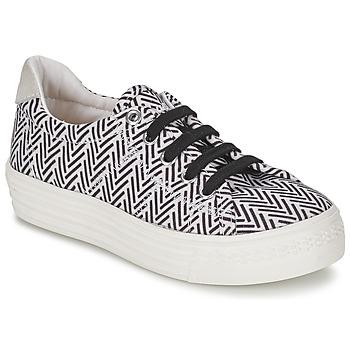 Schoenen Meisjes Lage sneakers Shwik STEP LO CUT Zwart / Wit