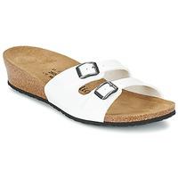 Schoenen Dames Leren slippers Papillio ANNE VERNIS / Wit
