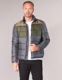 Textiel Heren Dons gevoerde jassen Emporio Armani EA7 MOUNTAIN M MEDIUM TRITONAL JACKET Zwart / Kaki