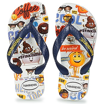Schoenen Jongens Slippers Havaianas KIDS EMOJI MOVIE Wit