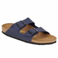 Schoenen Heren Leren slippers Birkenstock ARIZONA Blauw