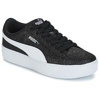 Schoenen Kinderen Lage sneakers Puma VIKKY PF GLIT J Zwart