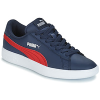 Schoenen Kinderen Lage sneakers Puma SMASH V2L JR182 Marine