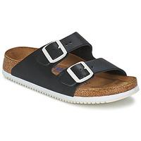 Schoenen Heren Leren slippers Birkenstock ARIZONA SL Zwart