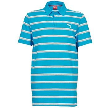 Textiel Heren Polo's korte mouwen Puma FUN STRIPE PIQUE POLO Blauw / Wit / Grijs