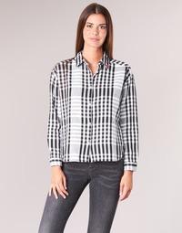 Textiel Dames Overhemden Scotch & Soda FRINDA Zwart / Wit