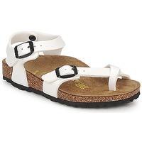 Schoenen Meisjes Sandalen / Open schoenen Birkenstock TAORMINA Wit / Verni