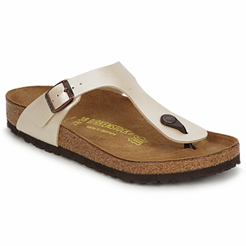 Schoenen Dames Slippers Birkenstock GIZEH Creme
