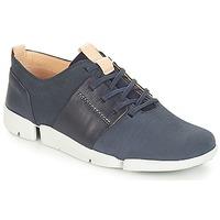 Schoenen Dames Lage sneakers Clarks Tri Caitlin Navy / Combi