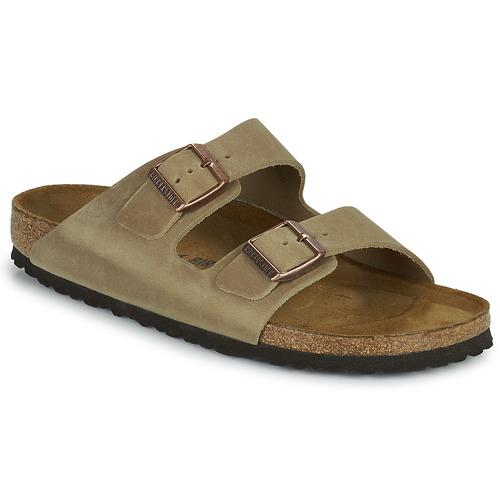 Schoenen Heren Leren slippers Birkenstock ARIZONA Brown