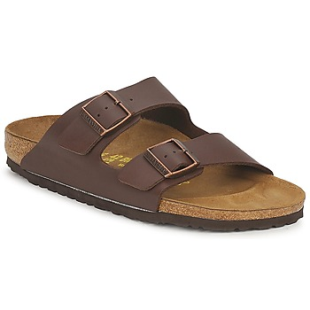 Schoenen Leren slippers Birkenstock ARIZONA Brown