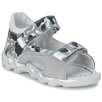 Schoenen Jongens Sandalen / Open schoenen Citrouille et Compagnie MISQUINE Wit / Military