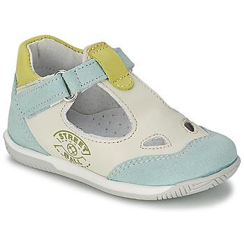 Schoenen Jongens Sandalen / Open schoenen Citrouille et Compagnie XOULOU Wit / Blauw / Groen