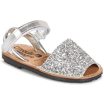 Schoenen Meisjes Sandalen / Open schoenen Citrouille et Compagnie SQUOUBEL Zilver