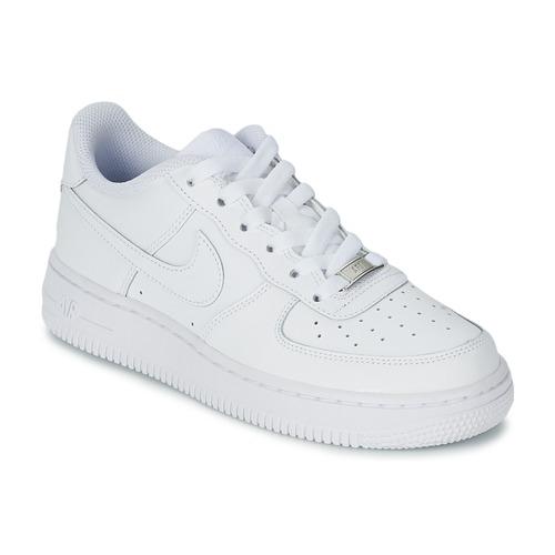 Schoenen Kinderen Lage sneakers Nike AIR FORCE 1 Wit