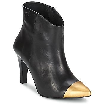 Schoenen Dames Enkellaarzen Pastelle ARIEL Zwart-goud