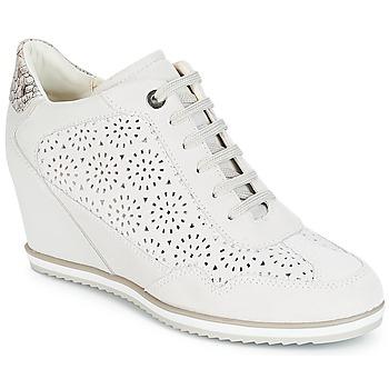 Schoenen Dames Hoge sneakers Geox D ILLUSION Wit