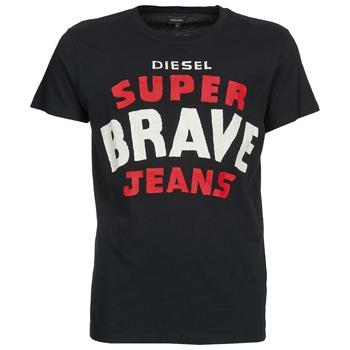 Textiel Heren T-shirts korte mouwen Diesel T-ASTERIOS Zwart