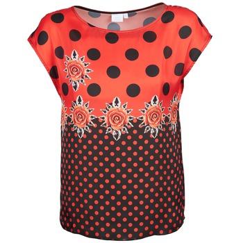 Textiel Dames T-shirts korte mouwen Alba Moda BETTINA Rood / Zwart