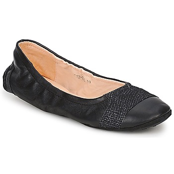 Schoenen Dames Ballerina's Couleur Pourpre BALLIB LIGHT Zwart