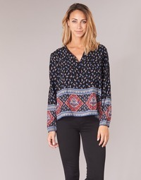 Textiel Dames Tops / Blousjes Casual Attitude WASAS Zwart / Multikleuren