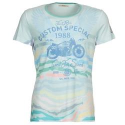 Textiel Heren T-shirts korte mouwen Gaudi ABHIJVALA Blauw