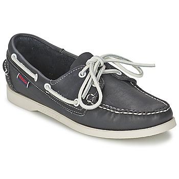 Schoenen Dames Bootschoenen Sebago DOCKSIDES Blauw