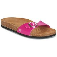 Schoenen Dames Leren slippers Casual Attitude CHASTO  FUCHSIA / Charbon