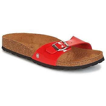 Schoenen Dames Leren slippers Casual Attitude CHASTO Rood / Charbon