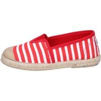 Schoenen Jongens Espadrilles Cienta espadrillas rosso tessuto bianco profumate BX287 Rosso