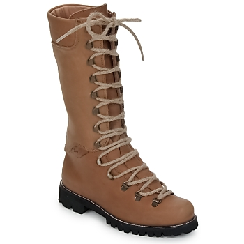 Schoenen Dames Laarzen Swamp STIVALE LACCI Brown / Clair