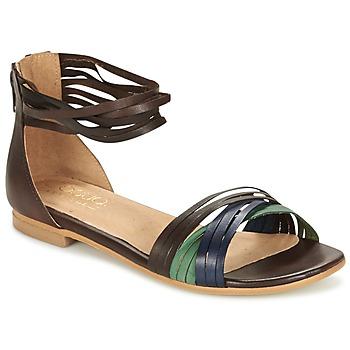 Schoenen Dames Sandalen / Open schoenen Casual Attitude FRANTO Brown